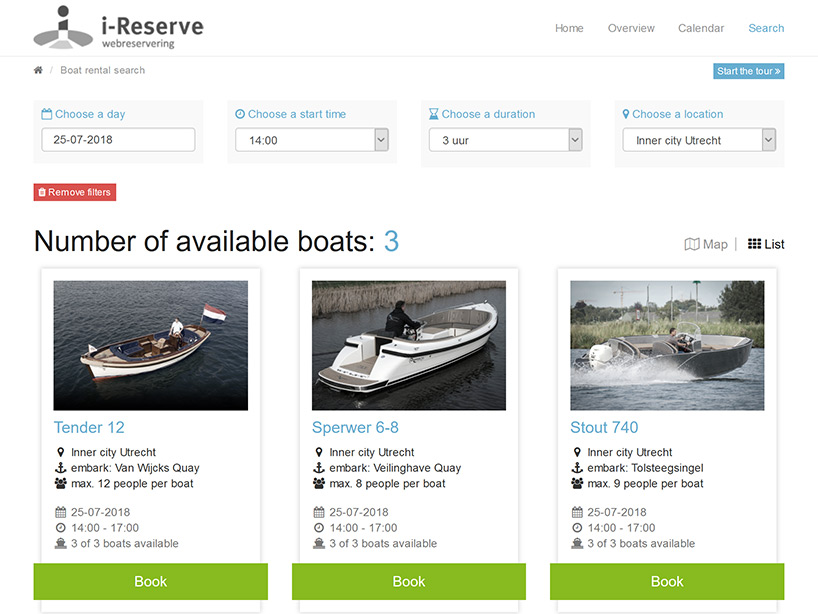 Search & Book (Boat rental)